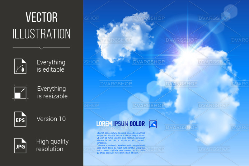 background-with-blue-sky-and-clouds-vector