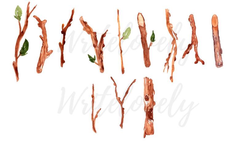 watercolor-nature-twig-sticker-clipart