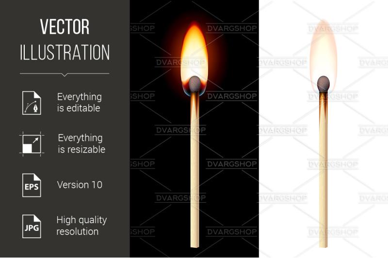 realistic-burning-match