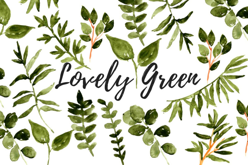 watercolor-floral-greenery-clipart