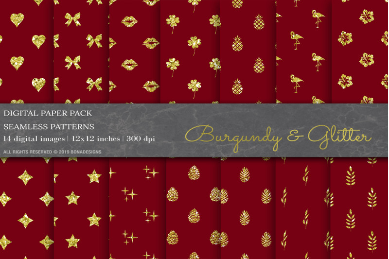 burgundy-glitter-digital-papers