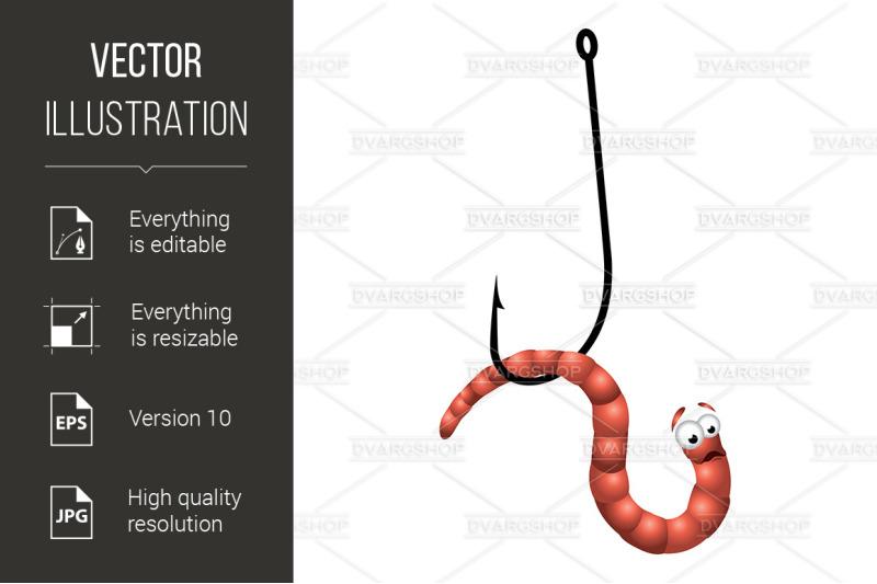 worm-on-hook