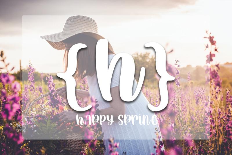 happy-spring-hand-lettered-script-font