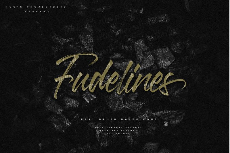 fudelines-brush-font