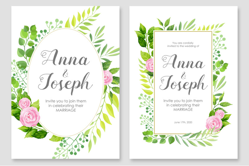 floral-wedding-invitations-vector-set