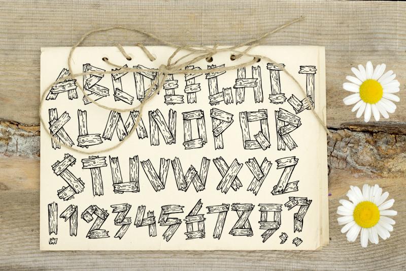 summer-old-wooden-font