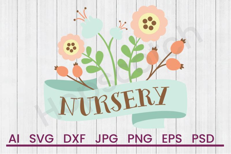 nursery-flowers-svg-file-dxf-file