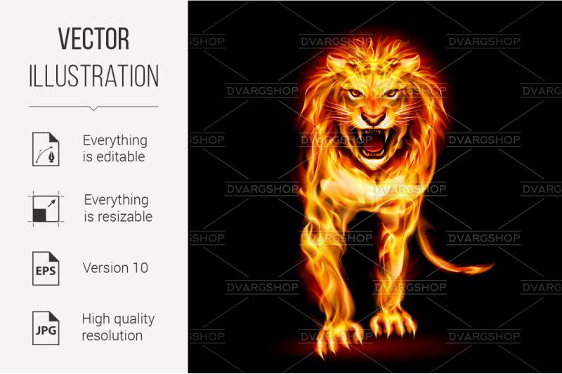 fire-lion