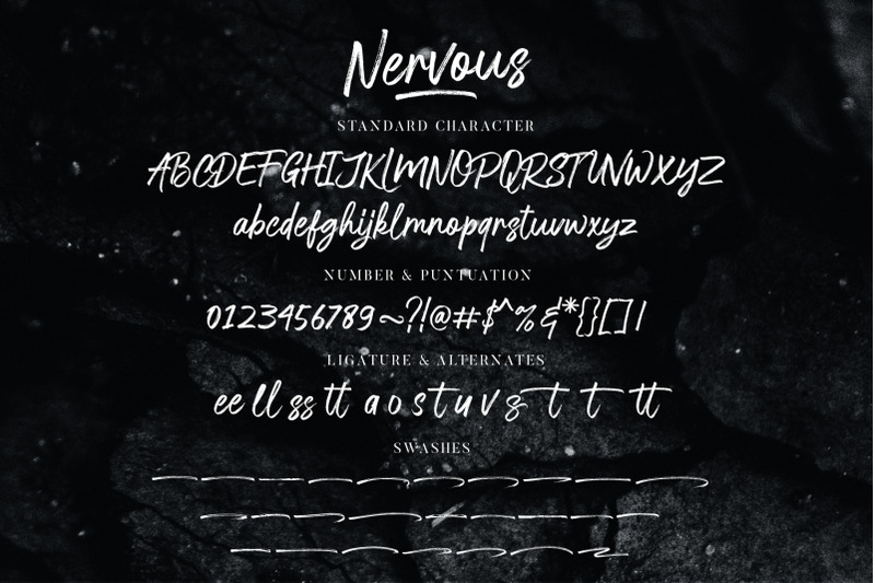nervous-brush-font