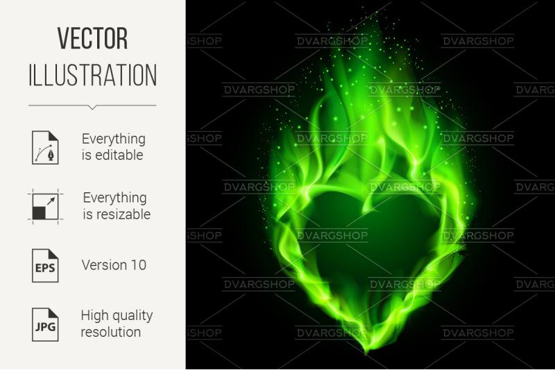 green-fiery-heart