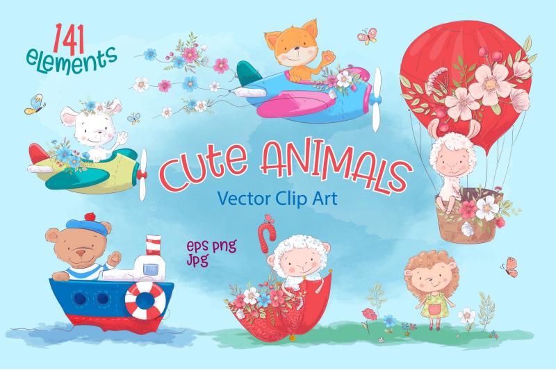 cute-animals-vector-clip-art