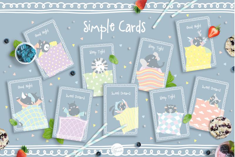 cute-animals-pajama-party-illustrations-amp-amp-amp-invitations