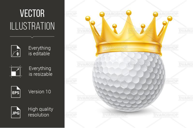 golden-crown-on-golf-ball