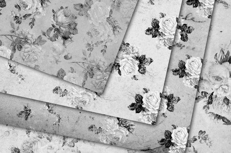 monochrome-shabby-paper-textures