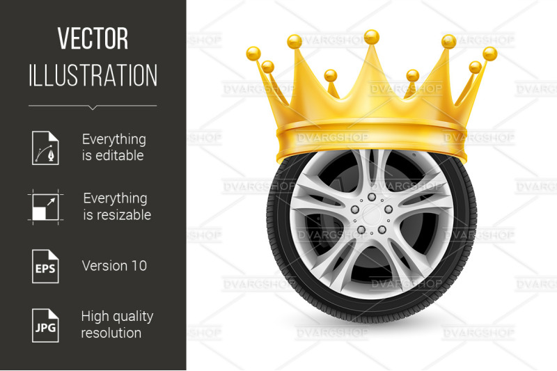golden-crown-on-wheel