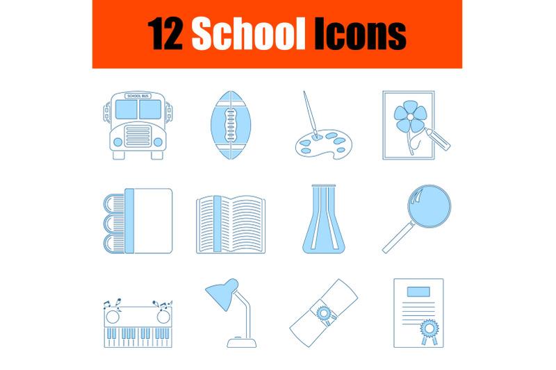 school-icon-set