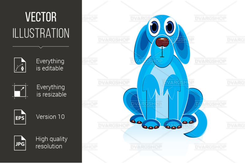 cartoon-blue-dog