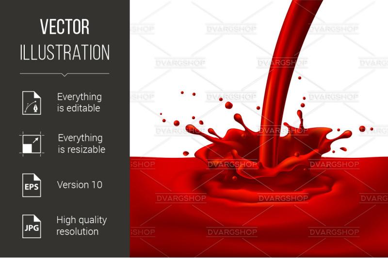 red-paint-splashing