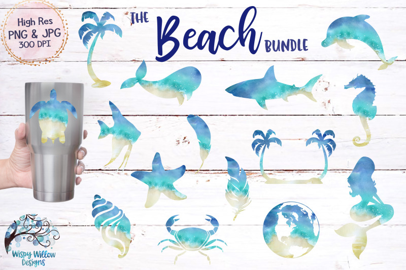 beach-clipart-sublimation-bundle