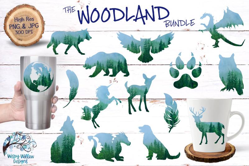 the-woodland-bundle-sublimation-clipart