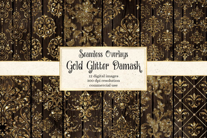 gold-glitter-damask-overlays
