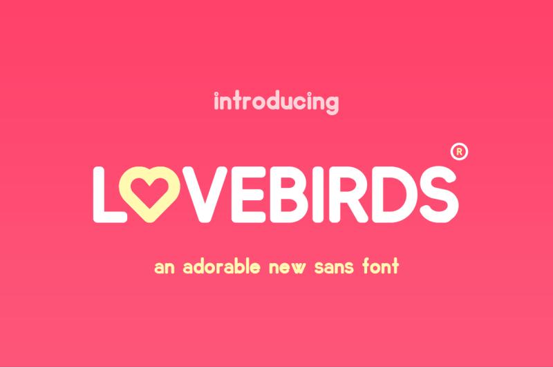 lovebirds-font