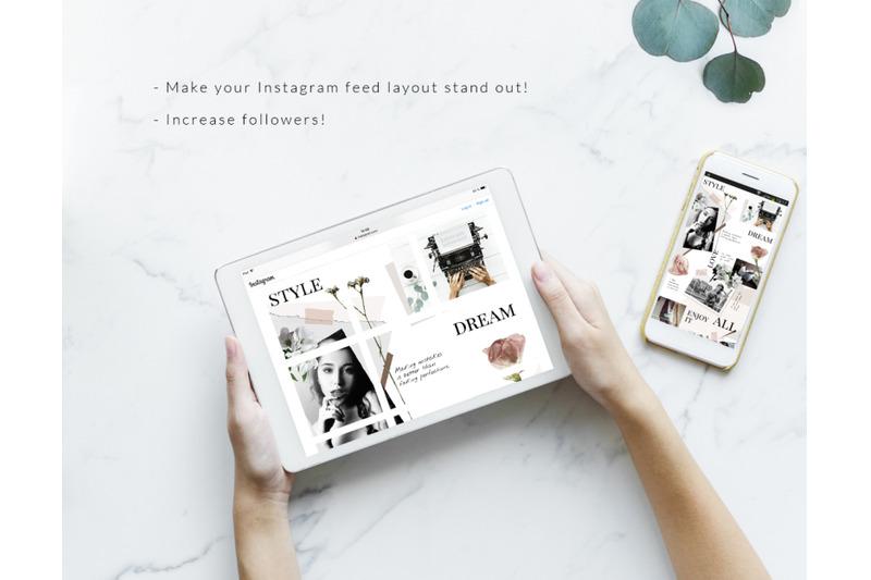 instagram-puzzle-template-floral