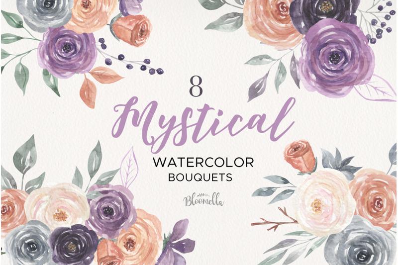 mystical-watercolor-8-clipart-bouquets-flowers-berries