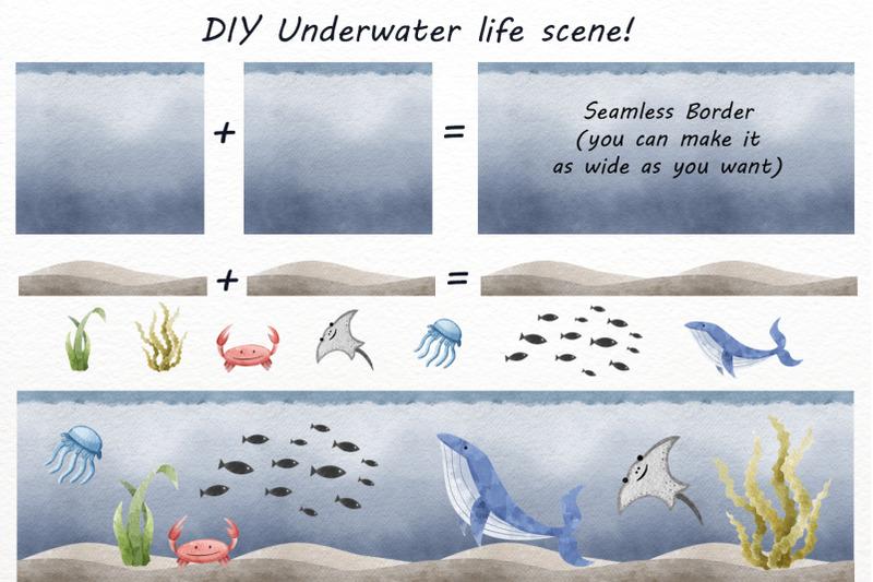 digital-watercolor-marine-life-clipart