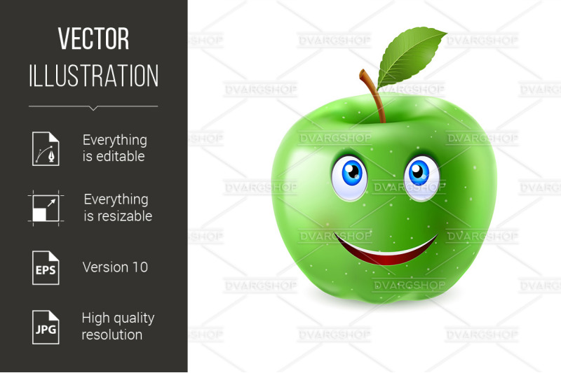 cartoon-apple
