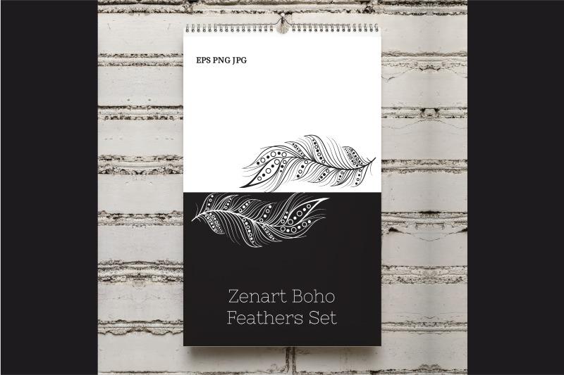 zenart-boho-feathers-set