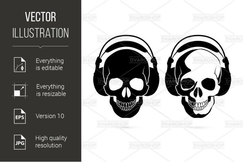 skull-with-headphone