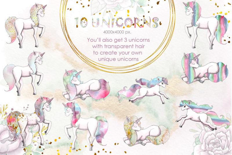 unicorns-watercolor-collection