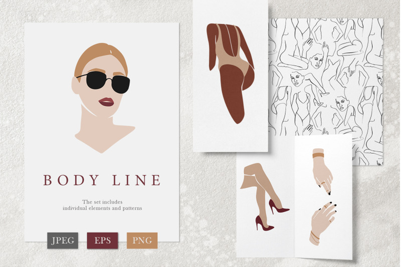 body-line-graphic-collection