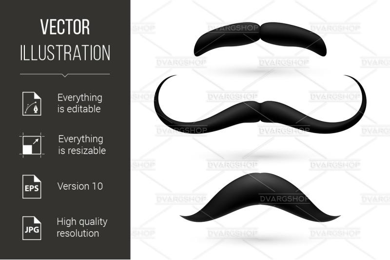 a-set-of-three-moustache