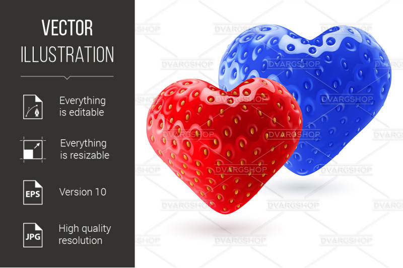 red-and-blue-strawberry-hearts