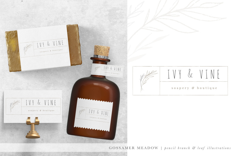 pencil-branch-amp-leaf-illustrations-branding-kit