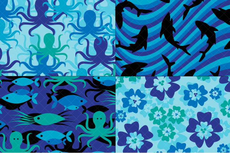 shark-fish-amp-octopus-patterns