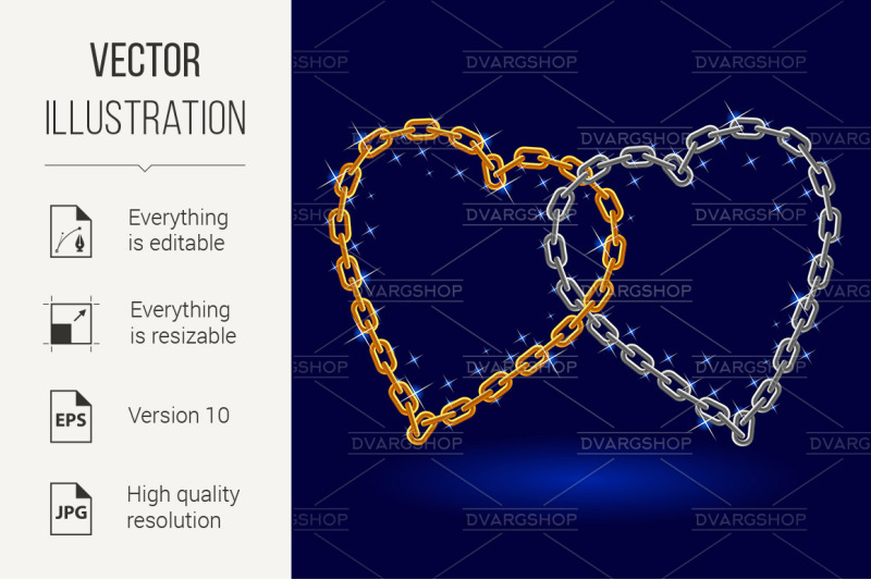 chain-silver-and-gold-heart