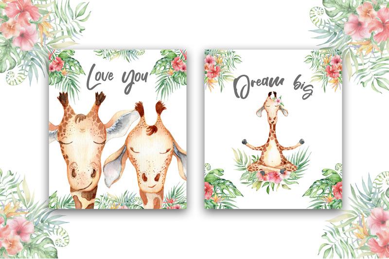 lovely-giraffes-watercolor-illustrations