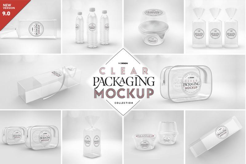 Free Vol.9 Clear Packaging Mockups (PSD Mockups)