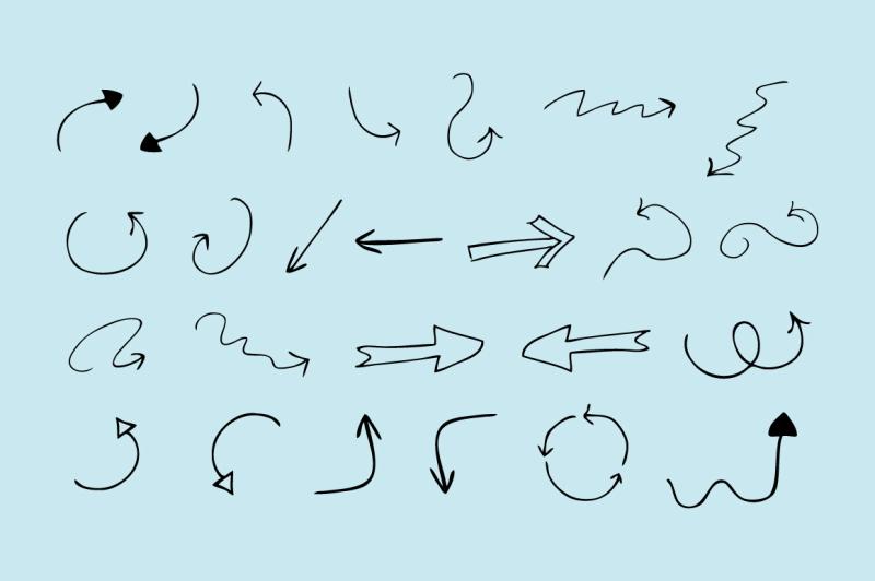 60-hand-drawn-arrows-vector
