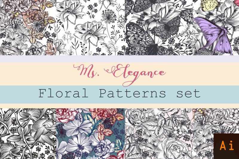 set-of-vector-floral-patterns
