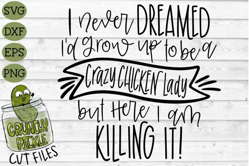 crazy-chicken-lady-svg