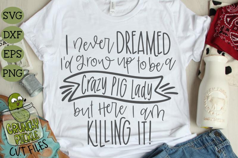 crazy-pig-lady-svg