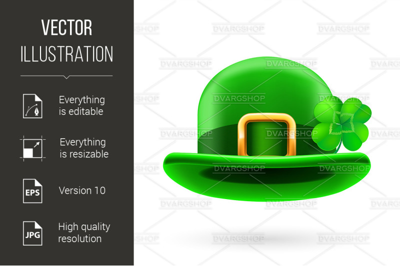 green-bowler-hat-decorated-with-clover