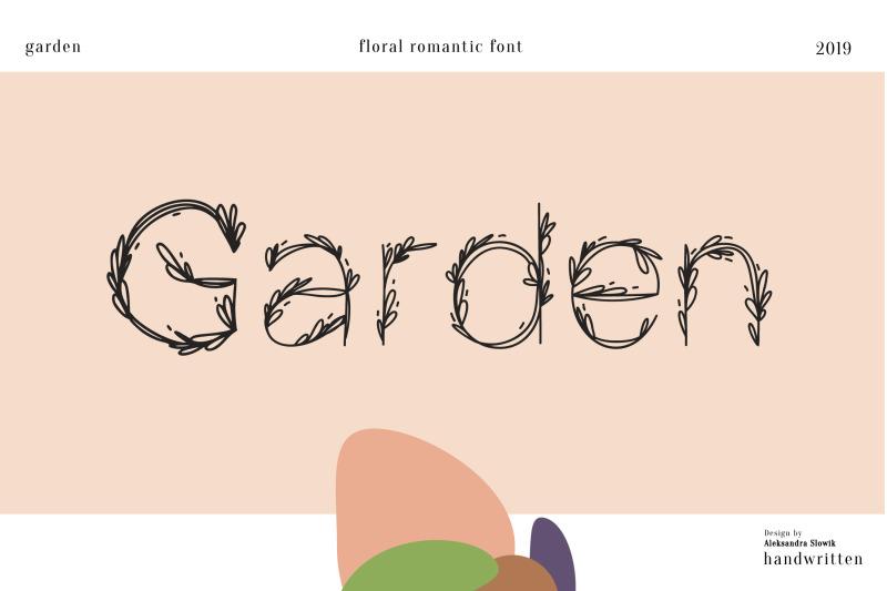 garden-floral-romantic-font