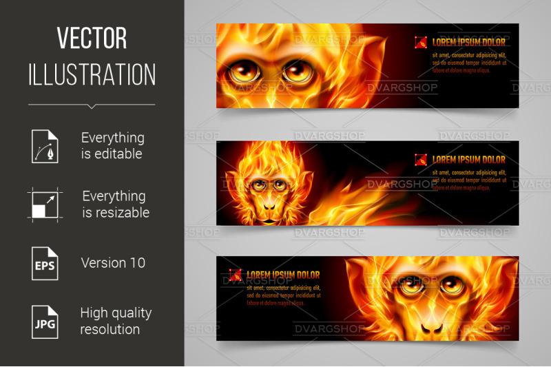 monkey-fire-banners