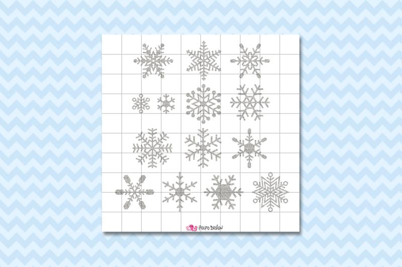 silver-glitter-snowflakes-clipart