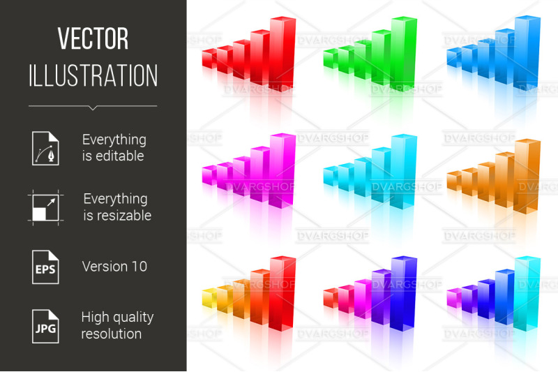 abstract-vector-bar-graphs